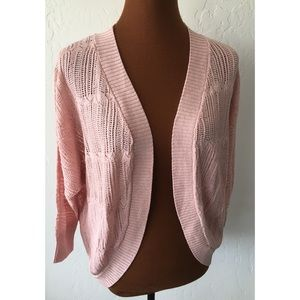 BB Dakota Pink Blossom Knit Cardigan Sweater